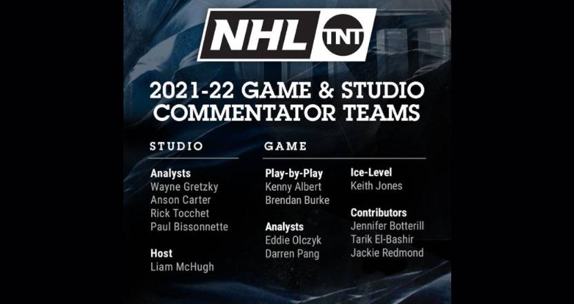 NHL on TNT 2021 lineup.