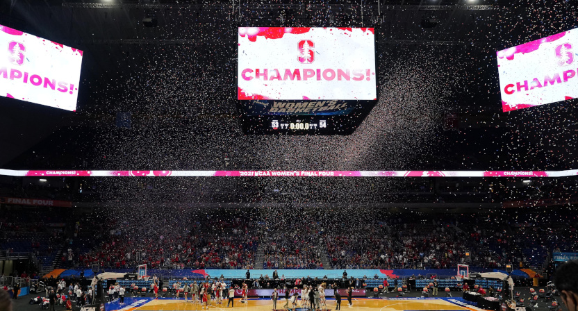 The 2021 NCAA women's basketball tournament final, won by the Stanford Cardinal.