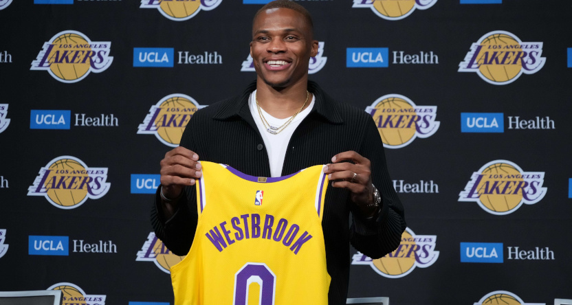 Russell Westbrook with the Lakers