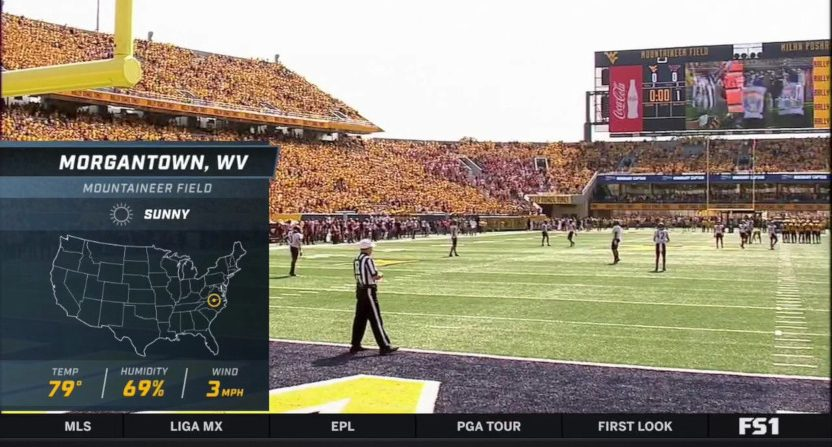 FS1 put Morgantown in the wrong state.