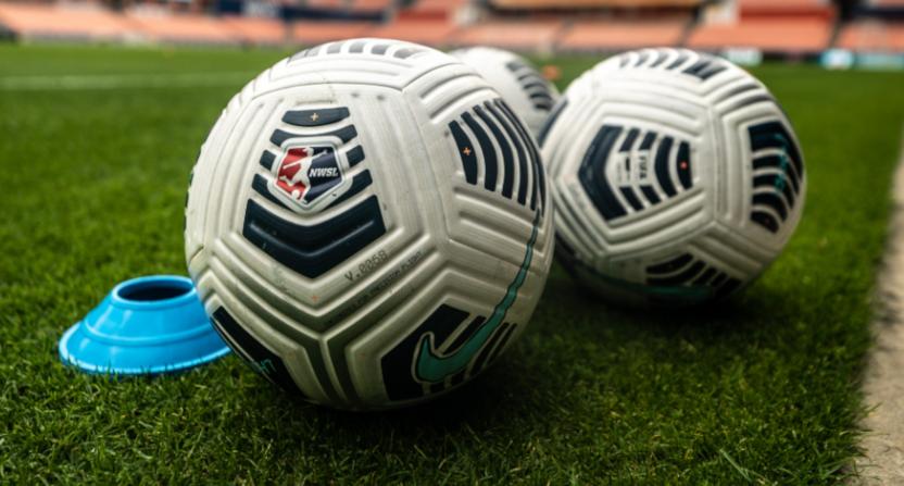NWSL soccer balls.