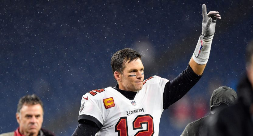 Tom Brady after beating the Patriots.
