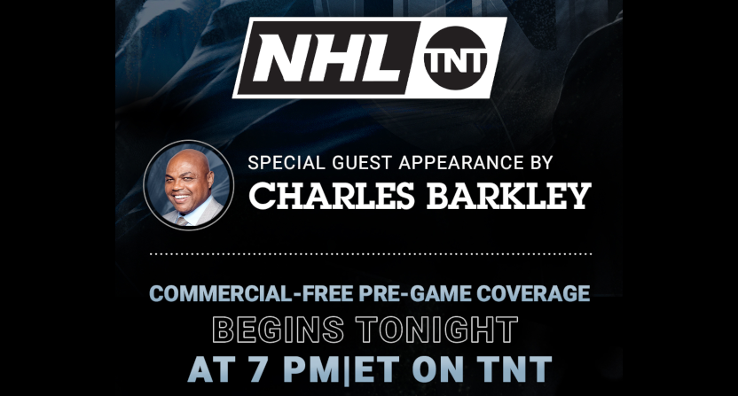 Charles Barkley joining the NHL on TNT.