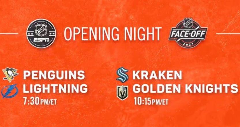 The NHL on ESPN opening night.